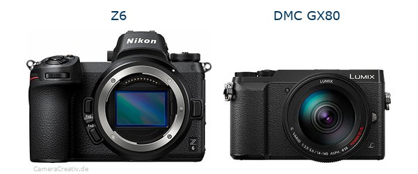 Nikon z6 vs Panasonic dmc gx 80