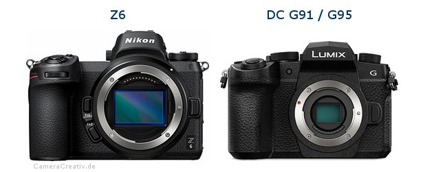 Nikon z6 vs Panasonic lumix g91