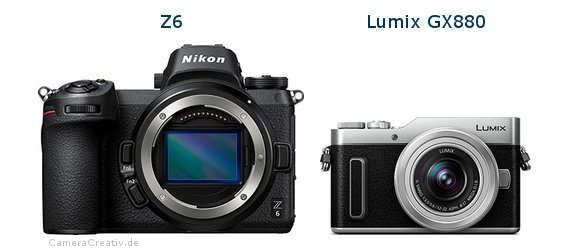 Nikon z6 vs Panasonic lumix gx 880