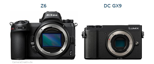 Nikon z6 vs Panasonic lumix gx 9
