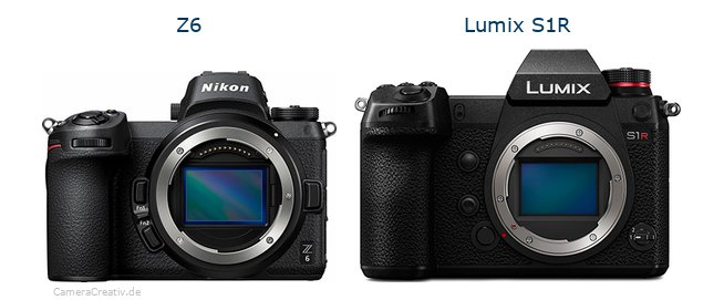 Nikon z6 vs Panasonic lumix s1r