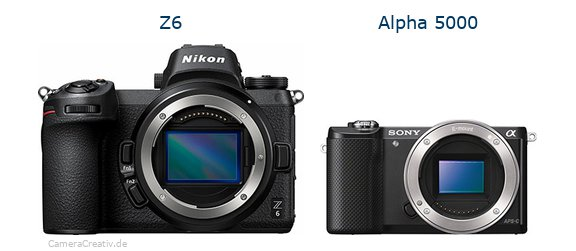Nikon z6 vs Sony alpha 5000