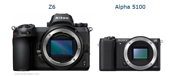 Nikon z6 vs Sony alpha 5100