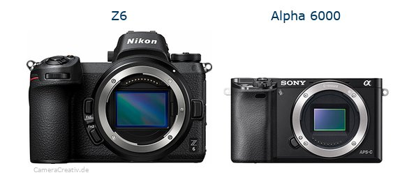 Nikon z6 vs Sony alpha 6000