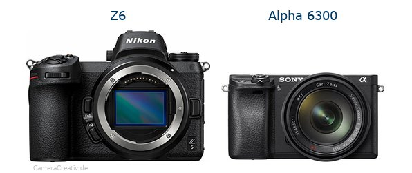 Nikon z6 vs Sony alpha 6300