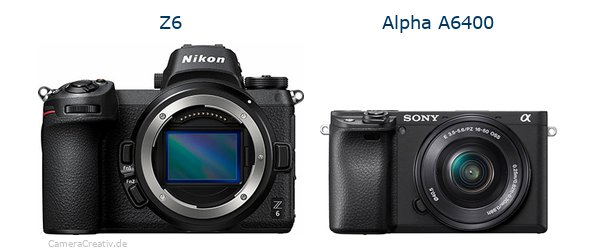 Nikon z6 vs Sony alpha 6400