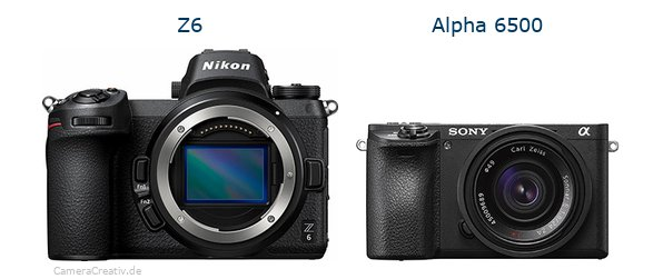 Nikon z6 vs Sony alpha 6500