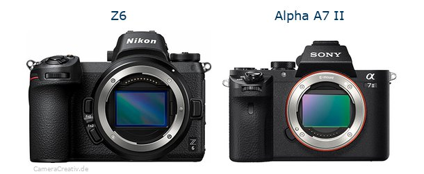 Nikon z6 vs Sony alpha a7 ii