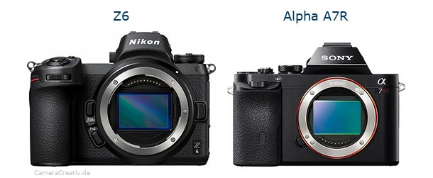 Nikon z6 vs Sony alpha a7r