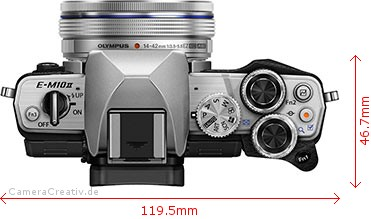 EOS M50 und OM-D E-M10 Mark II, view from above