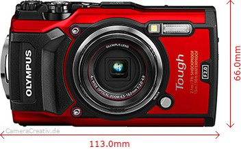 Olympus Tough TG-5 Dimensions (Width / Height)