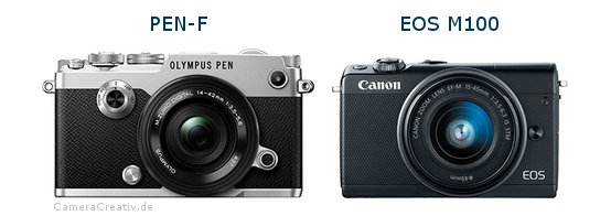 Olympus pen f oder Canon eos m100