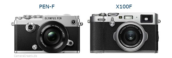 Comparison: Olympus PEN-F vs Fujifilm X100F | CameraCreativ com