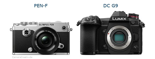 Olympus pen f vs Panasonic dc g9
