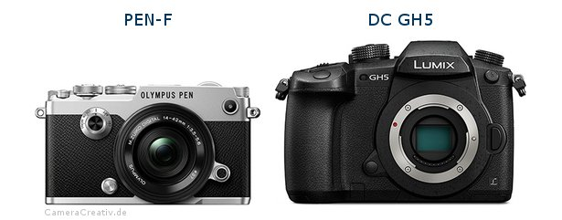 Olympus pen f vs Panasonic dc gh 5