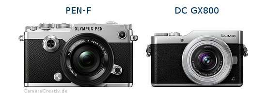 Olympus pen f vs Panasonic dc gx 800