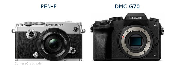 Olympus pen f vs Panasonic dmc g 70