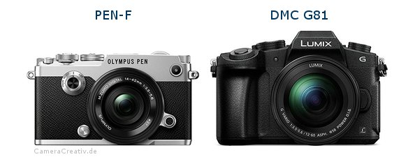 Olympus pen f vs Panasonic dmc g 81