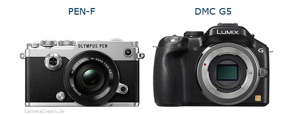Olympus pen f vs Panasonic dmc g5