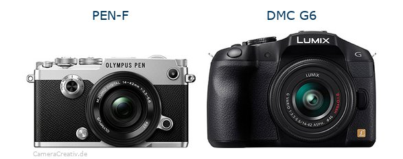 Olympus pen f vs Panasonic dmc g6