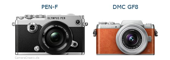 Olympus pen f vs Panasonic dmc gf 8