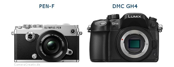 Olympus pen f vs Panasonic dmc gh 4