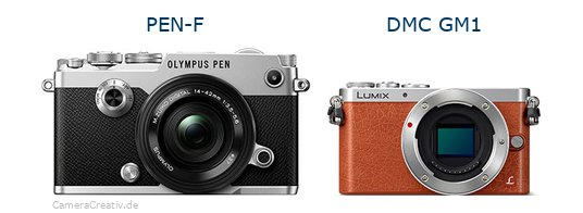 Olympus pen f vs Panasonic dmc gm 1