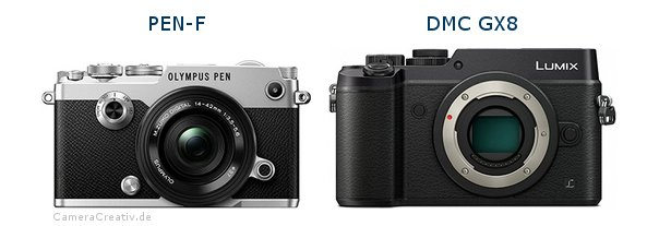 Olympus pen f vs Panasonic dmc gx 8