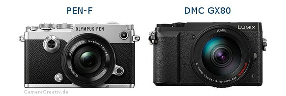 Olympus pen f vs Panasonic dmc gx 80