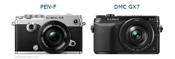 Olympus pen f vs Panasonic dmc gx7