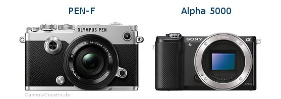 Olympus pen f vs Sony alpha 5000