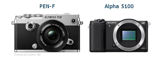 Olympus pen f vs Sony alpha 5100