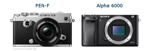 Olympus pen f vs Sony alpha 6000