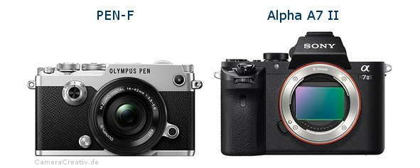 Olympus pen f vs Sony alpha a7 ii