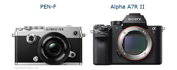 Olympus pen f vs Sony alpha a7r ii
