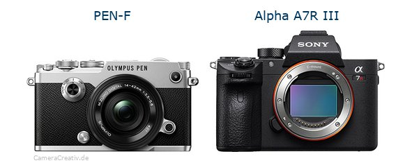 Olympus pen f vs Sony alpha a7r iii