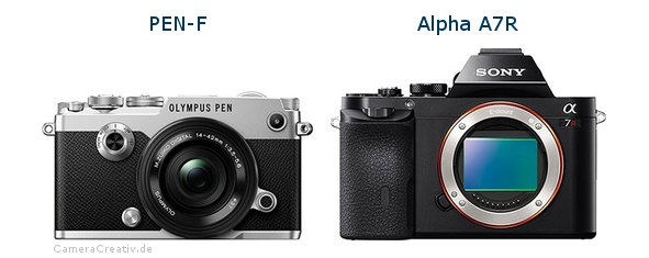Olympus pen f vs Sony alpha a7r