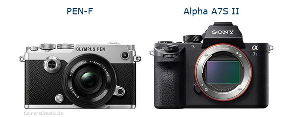 Olympus pen f vs Sony alpha a7s ii