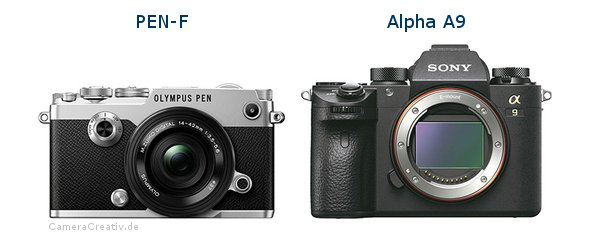 Olympus pen f vs Sony alpha a9