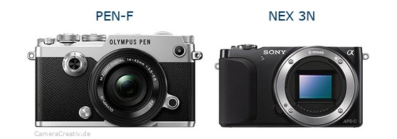 Olympus pen f vs Sony nex 3n