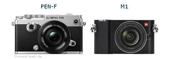 Olympus pen f vs Yi m1