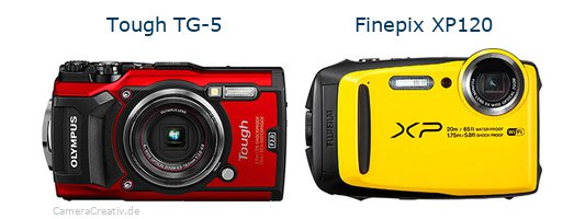 Olympus tg 5 vs Fujifilm finepix xp120