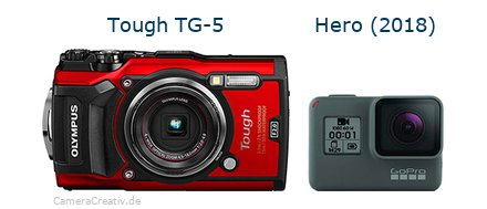 Olympus tg 5 vs Gopro hero 2018