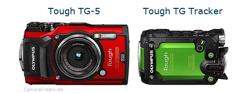 Tough TG-5 vs Tough TG Tracker - Side by side