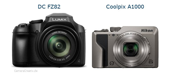 Panasonic dc fz 82 vs Nikon coolpix a1000