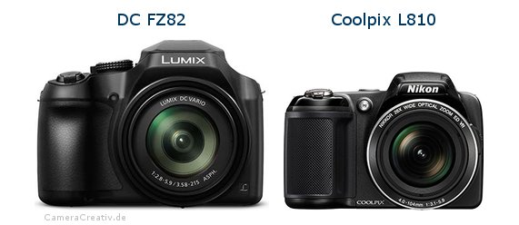 Panasonic dc fz 82 vs Nikon coolpix l810