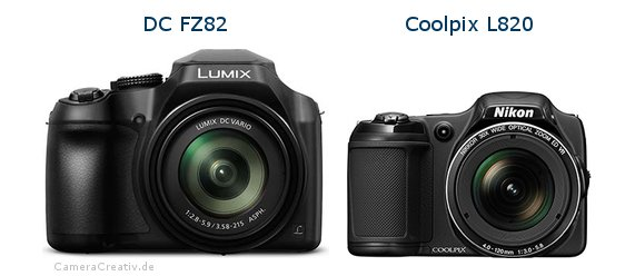 Panasonic dc fz 82 vs Nikon coolpix l820