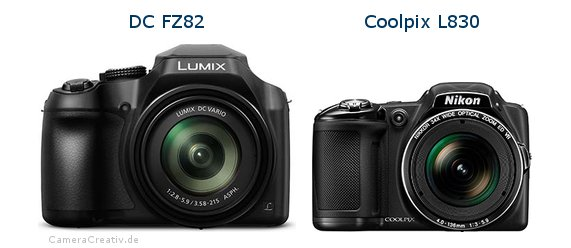 Panasonic dc fz 82 vs Nikon coolpix l830