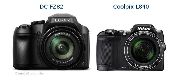 Panasonic dc fz 82 vs Nikon coolpix l840