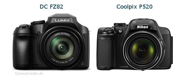 Panasonic dc fz 82 vs Nikon coolpix p520